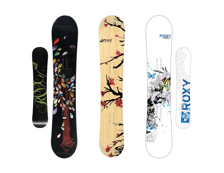 Roxy滑雪板图案设计