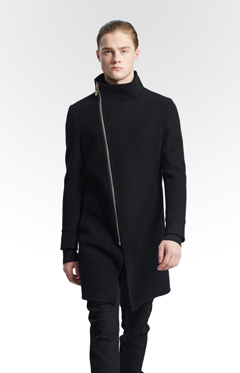 不对称大衣设计