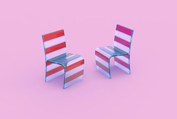 BRINGLLlED彩色塑料椅