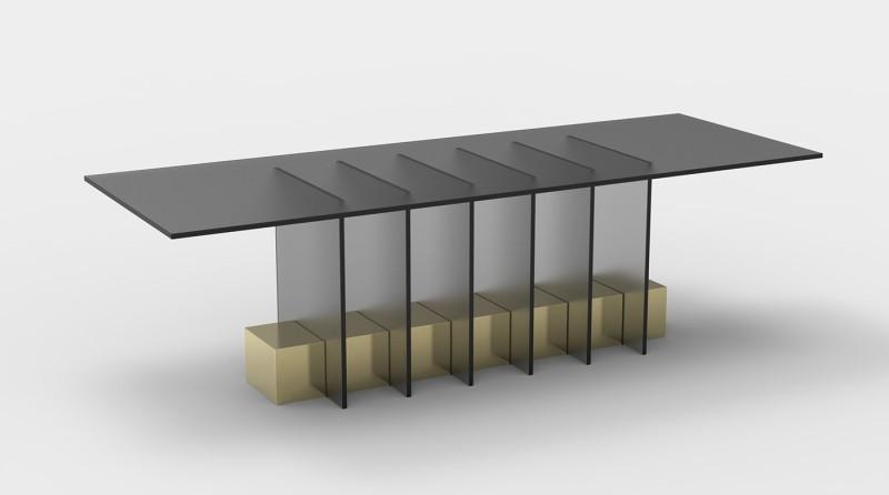 黄铜和玻璃家具系列