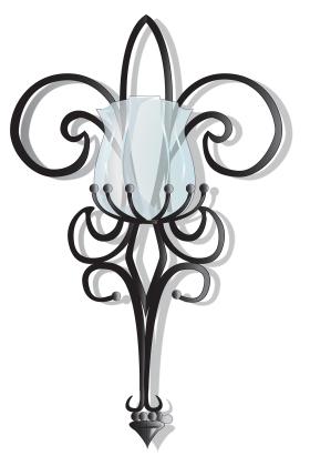 Fleur De Lis Wall Sconce壁灯设计