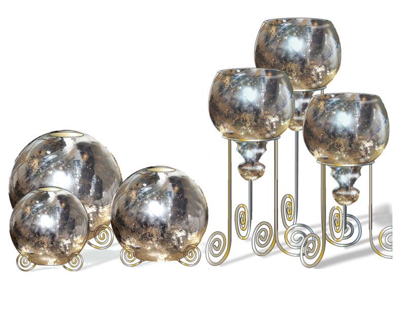 水银玻璃灯具设计