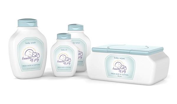 Bundle of Joy婴儿护理线图案包装设计