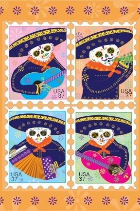 亡灵节邮票