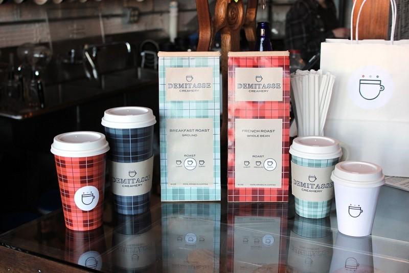 Demitasse Creamery咖啡和冰淇淋包装设计