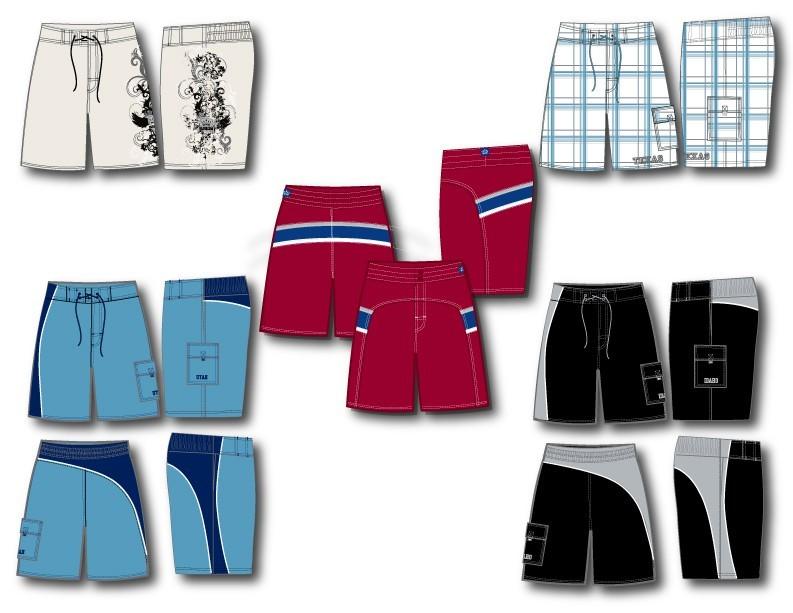 沃尔玛男装T恤短裤图案设计