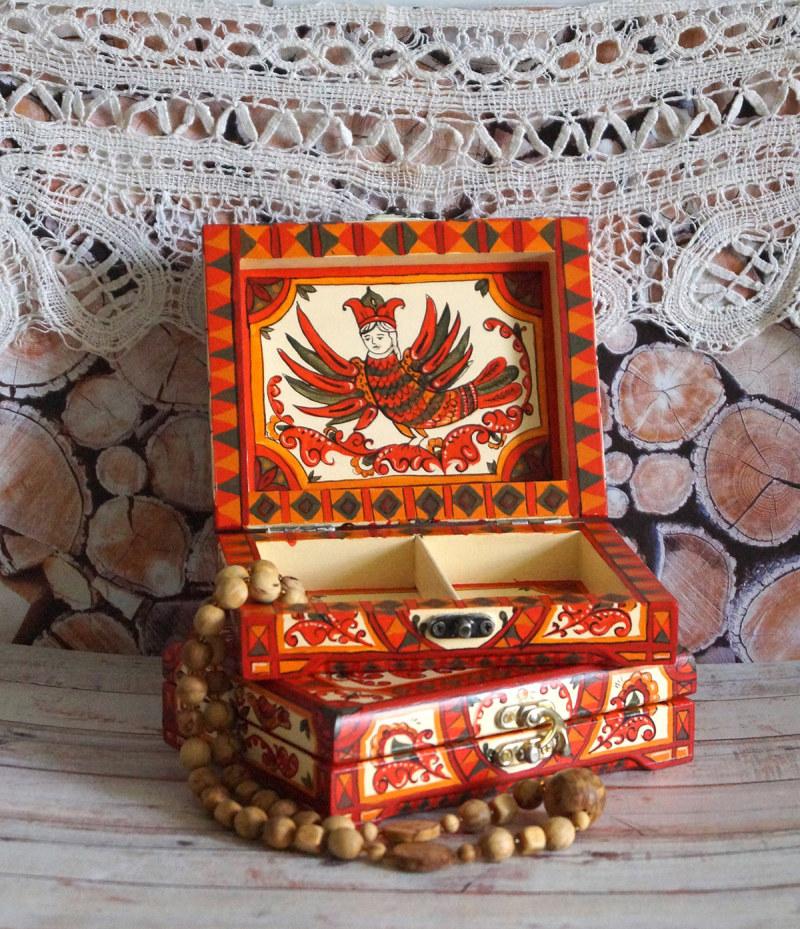 手绘Sirin鸟木盒