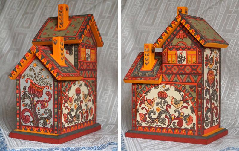 手绘木盒图案