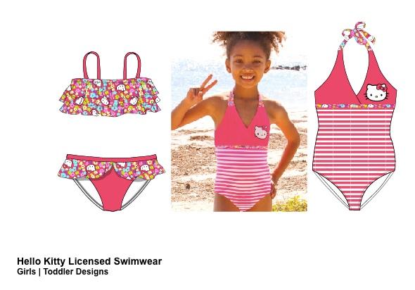 女童泳装-HELLO KITTY授权泳装