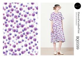 棉麻女装印花设计连衣裙