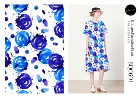 棉麻女装印花设计