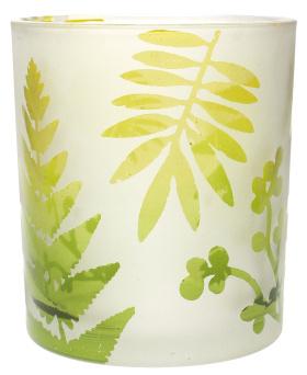 热带丛林主题玻璃器皿烛台