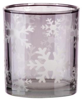冬季主题玻璃烛台