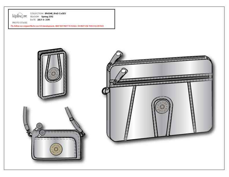 Kipling手机包设计