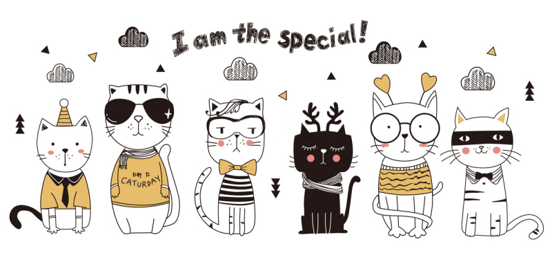 猫咪墙贴纸