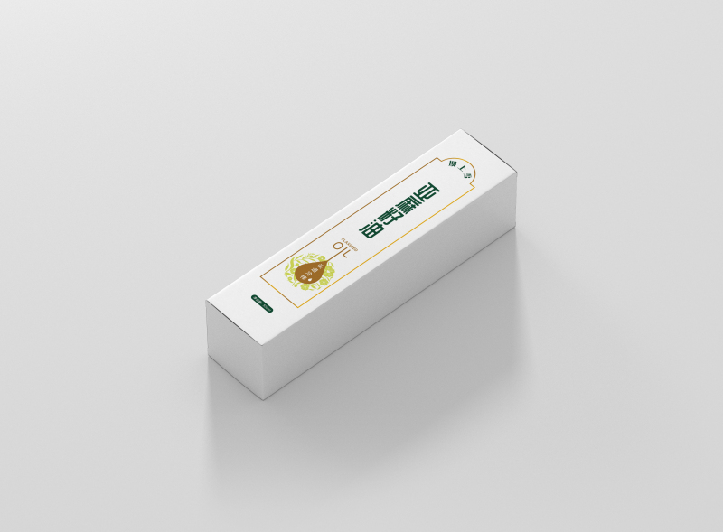 简约亚麻籽油包装盒