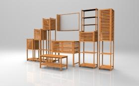 竹条子浴室家具