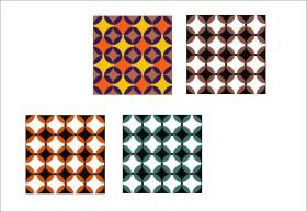 复古几何花型设计