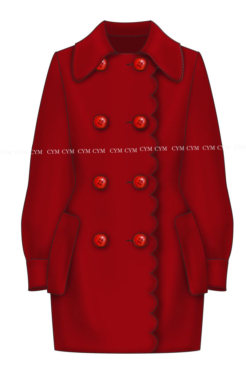 女装冬季廓形大衣