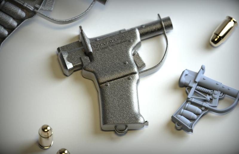 欧式写实迷你枪械注塑工艺品钥匙扣挂件
