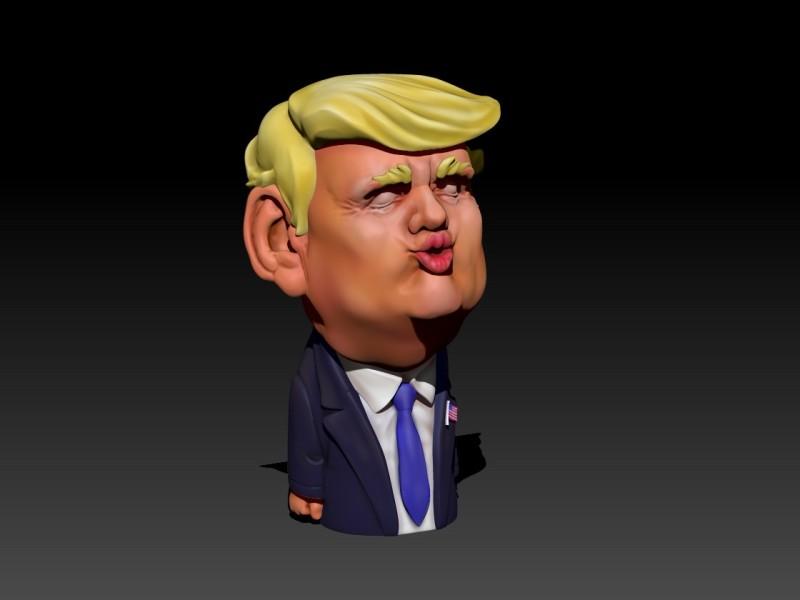 卡通美国总统人物造型圣诞节玩偶手办