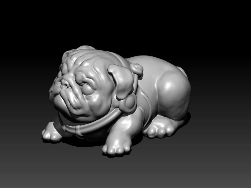 卡通可爱小狗动物树脂工艺品玩偶摆件