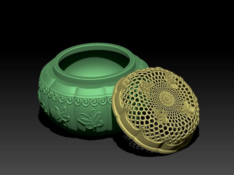 中式铸铜香炉工艺品