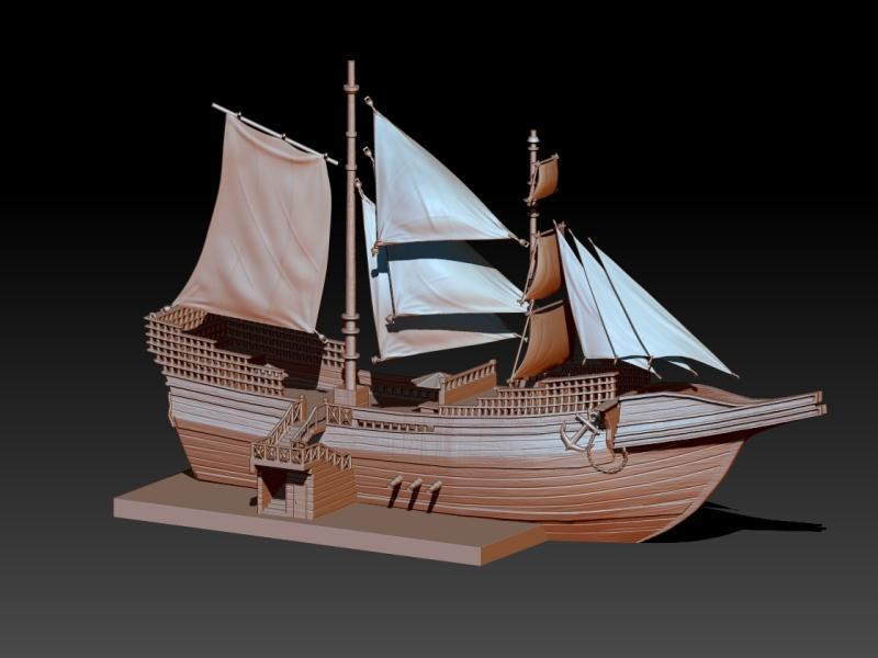欧式树脂海盗船工艺品摆件