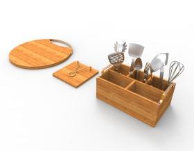 金属竹子厨房小件