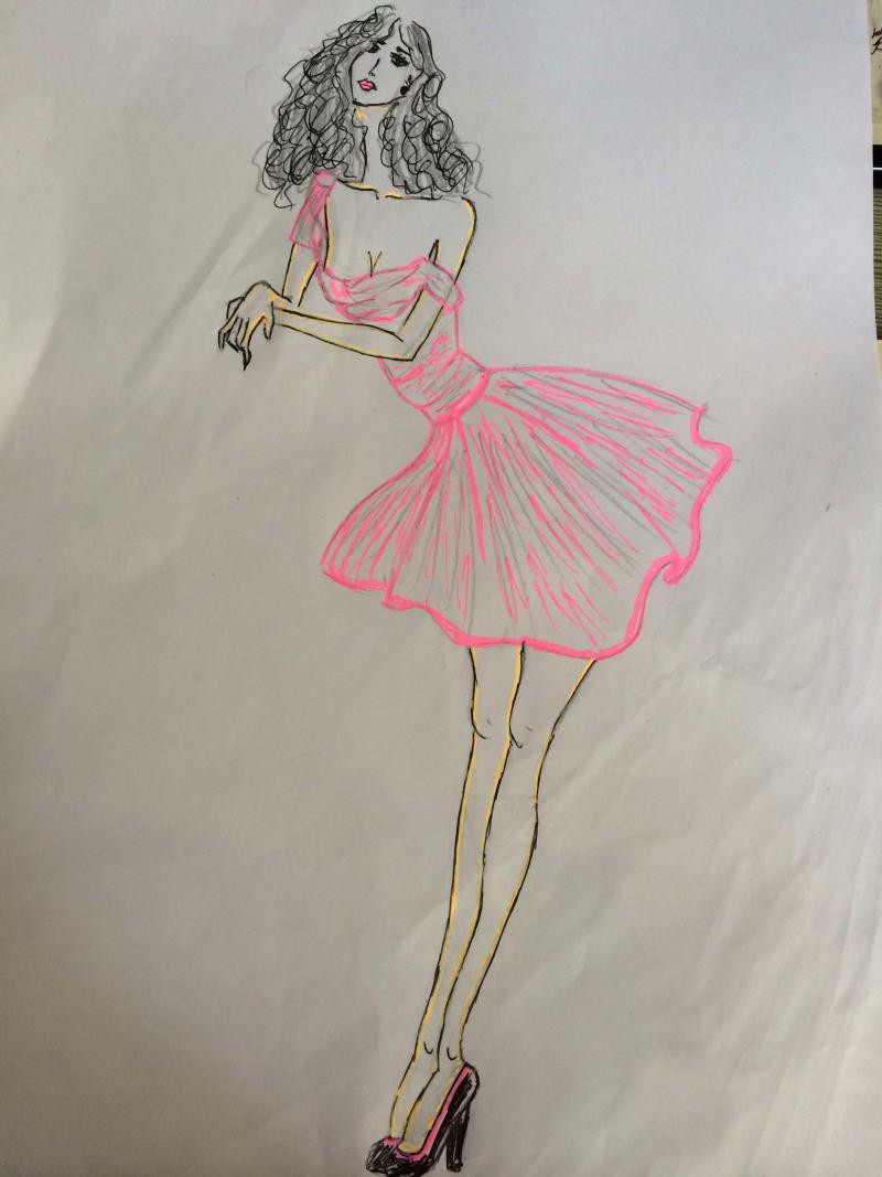 女士卫衣的烫画美女图案