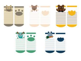 卡通动物宝宝袜