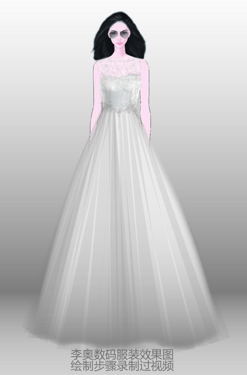 婚纱效果图
