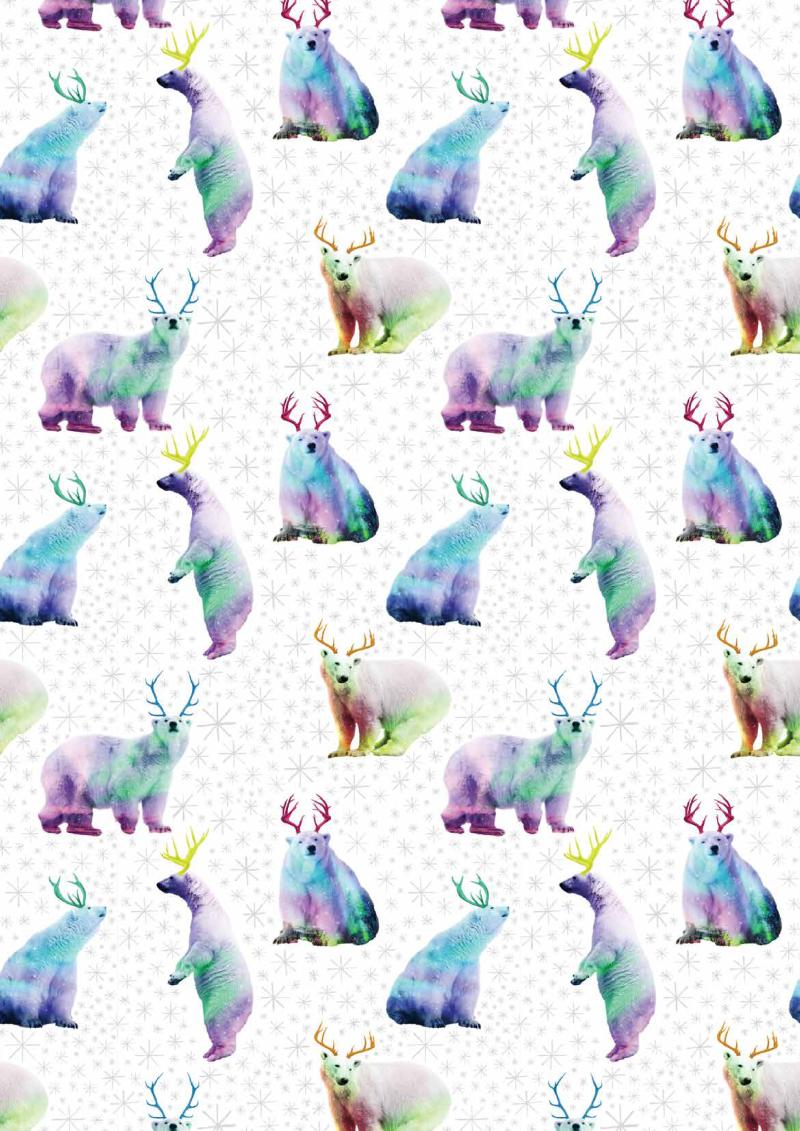 家居图案——彩色北极熊
