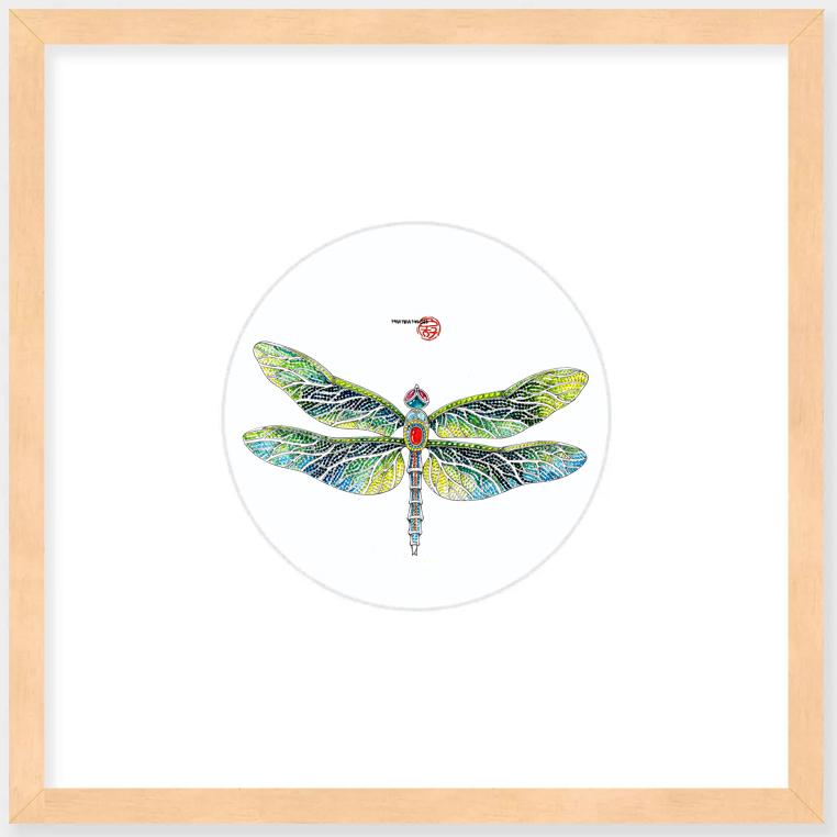 蜻蜓装饰画墙挂