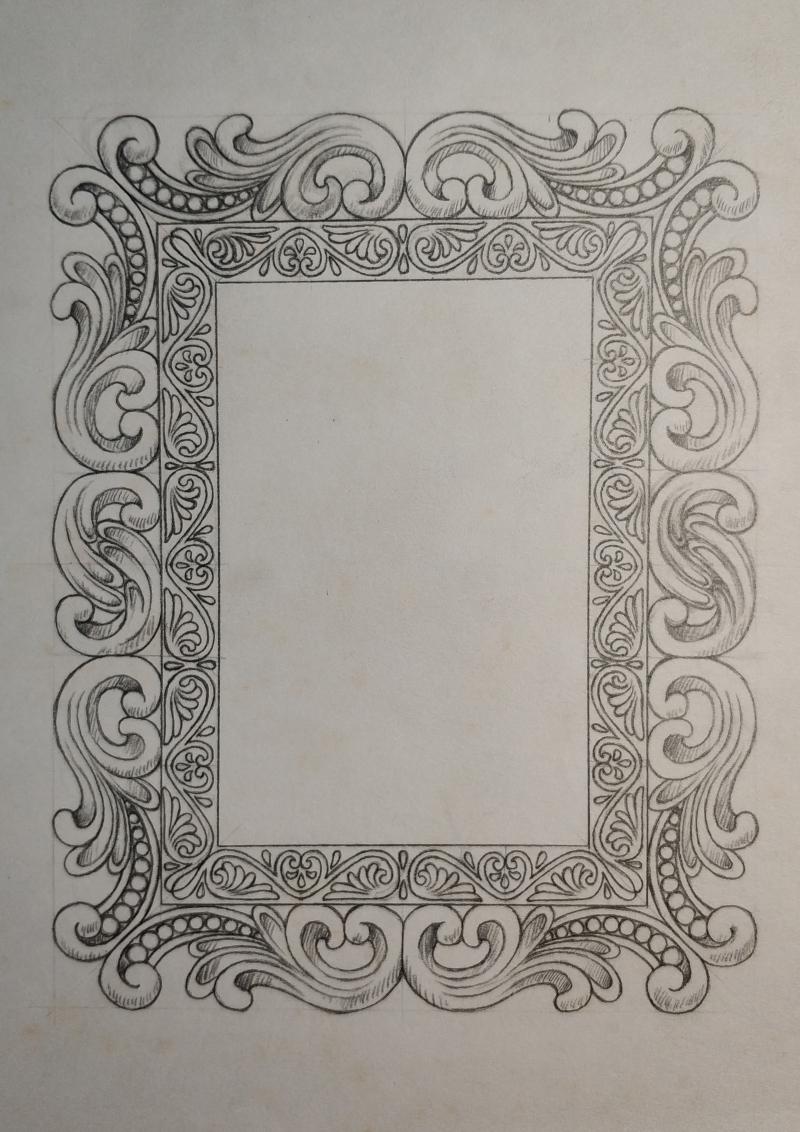欧式古典图案相框