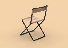 简约金属折椅