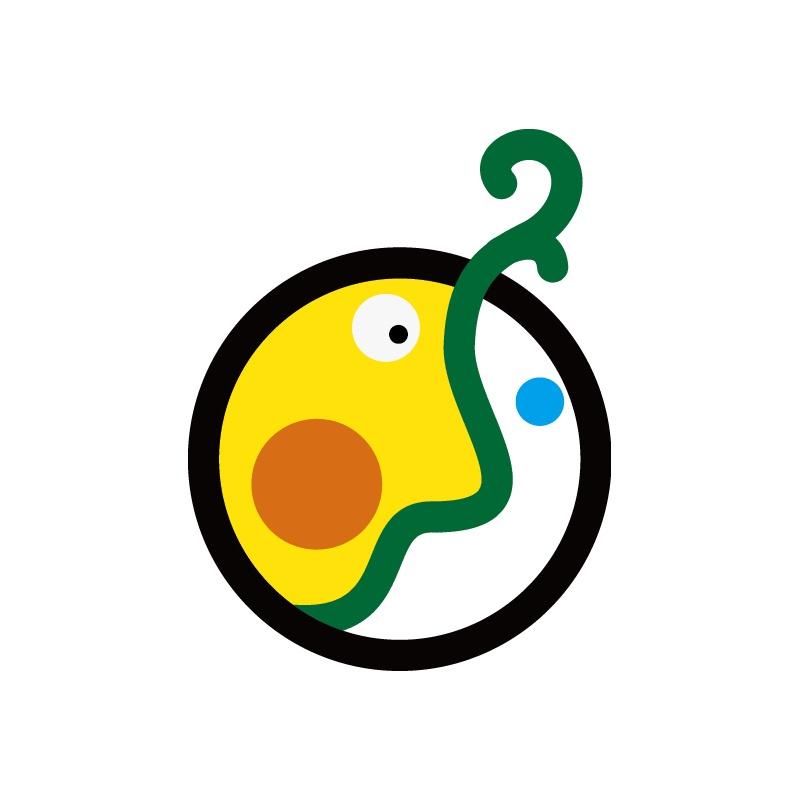 日式兒童啟迪發芽圖形LOGO