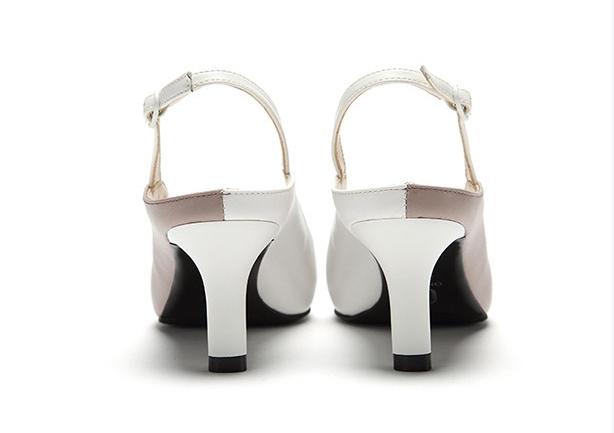 簡約撞色時尚高跟鞋