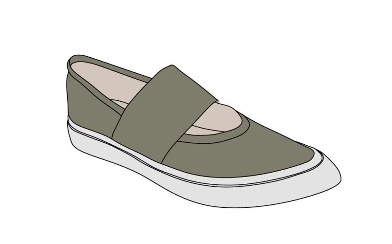 弹力带舒适休闲板鞋
