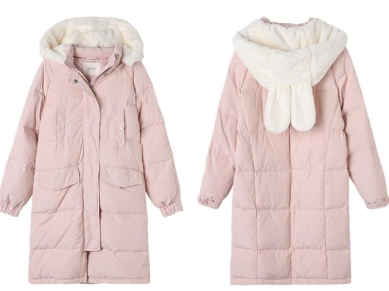 女式冬季羽绒外套