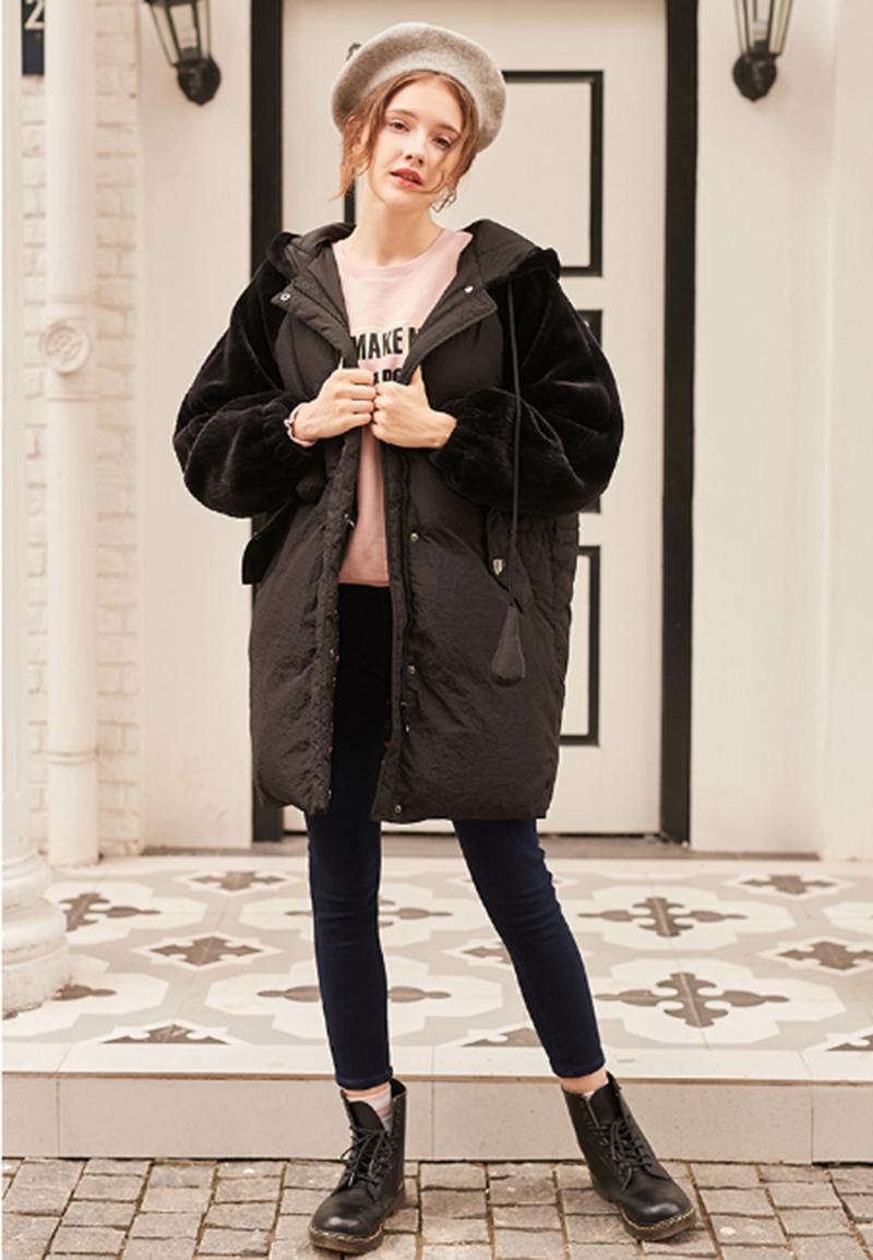 女式冬季羽绒外套可爱