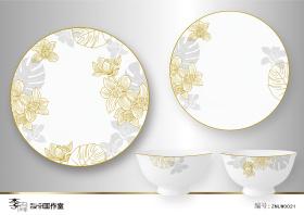 陶瓷花面设计