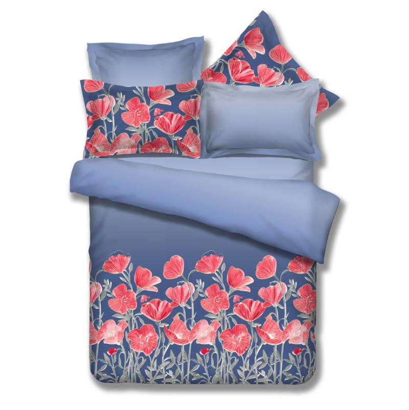 几何花卉时尚清新印花床品四件套