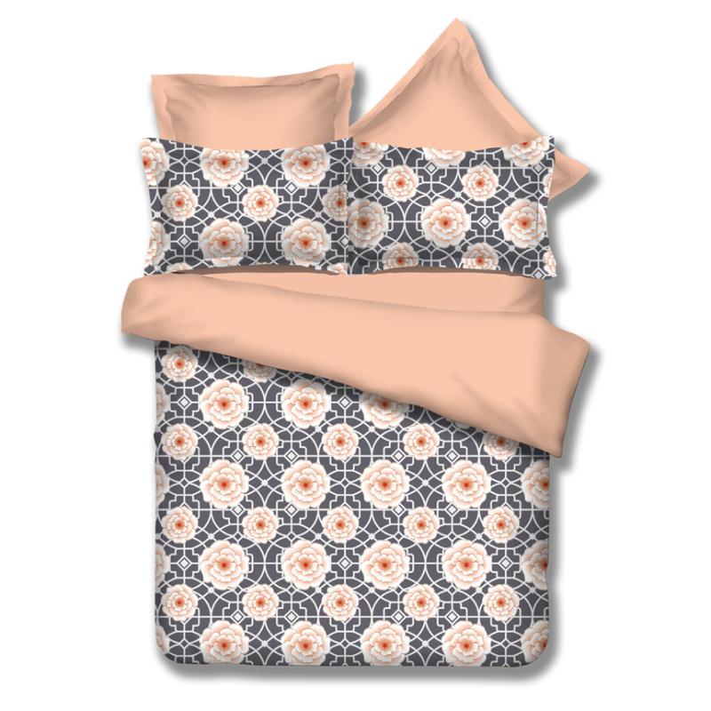 幾何花卉時尚清新印花床品四件套