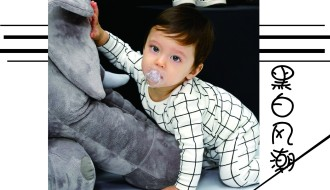 婴幼儿三角哈衣系列——黑白风潮