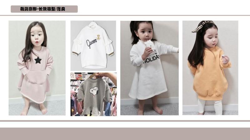 2019年中小童(女)卫衣流行趋势