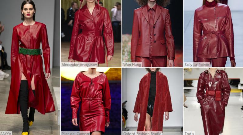 红丝绒--女装皮衣皮草色彩趋势