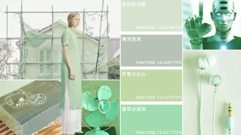 2020年女装色彩流行趋势-薄荷色系