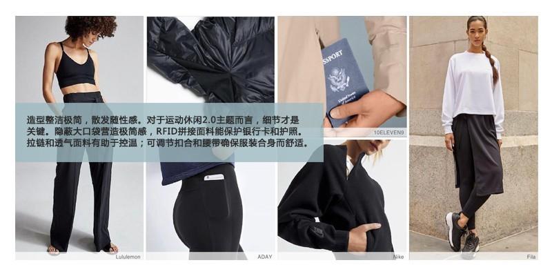 2020-2021秋冬运动休闲女装趋势速递
