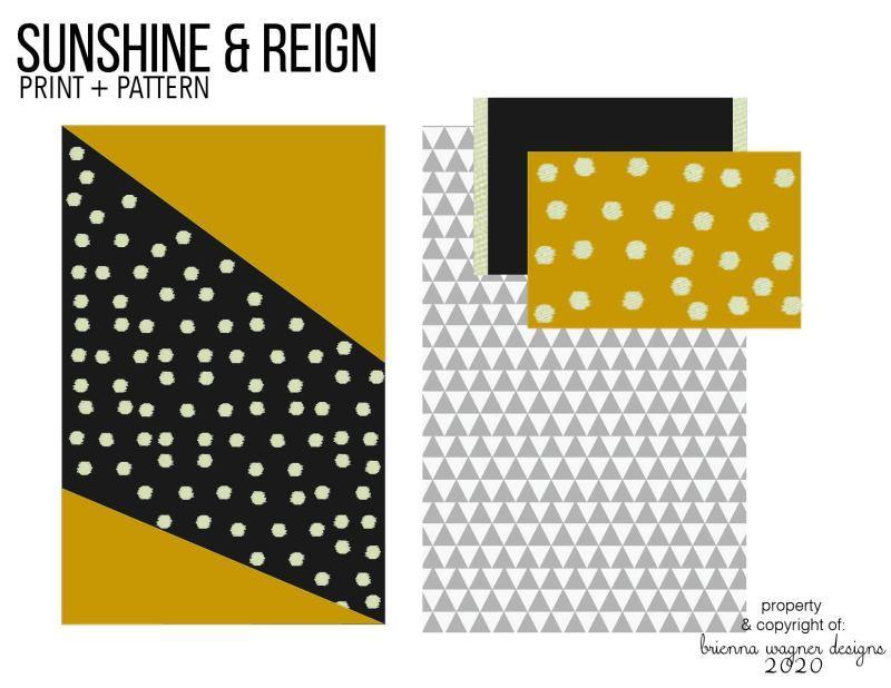 印花和圖案設計——陽光